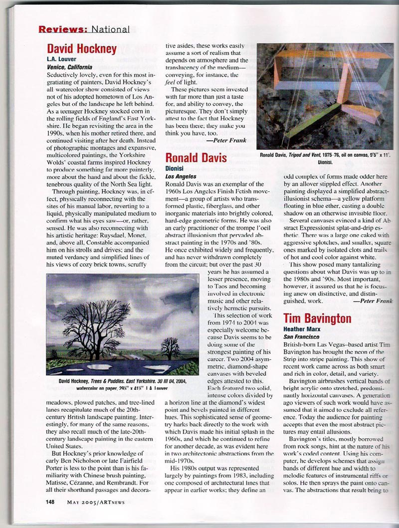 ARTnews Review, May 2005